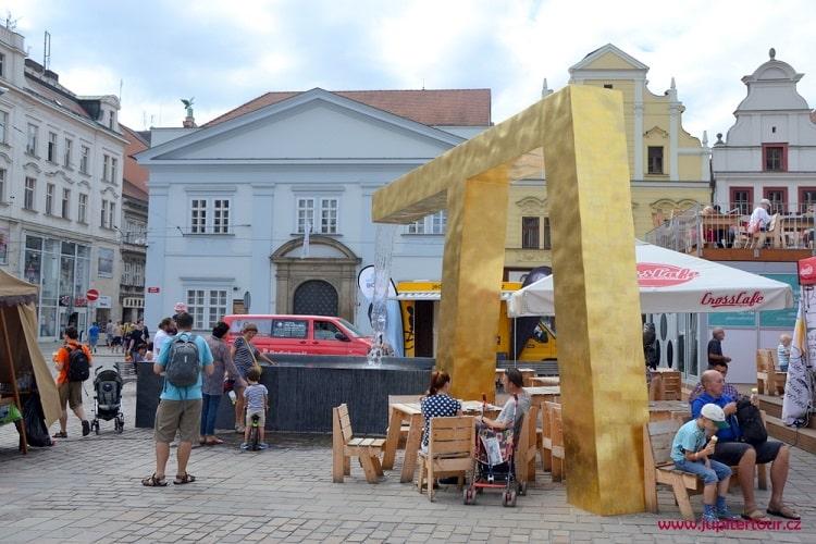Фонтан-памятник, Плзень