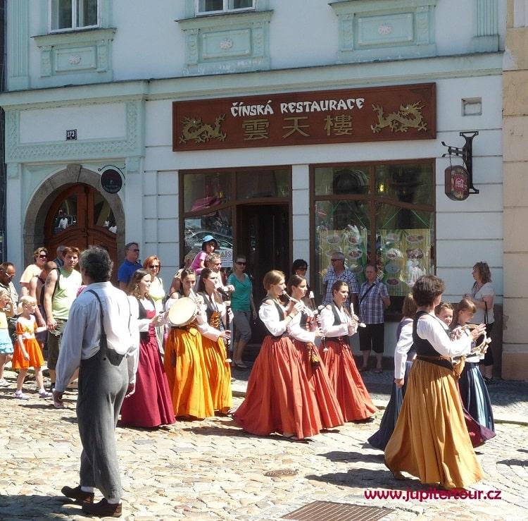 Праздник в городе Йиндржихув Градец, Чехия