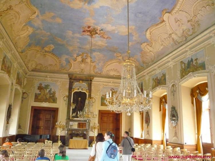 Большой зал, Замок Добржиш, Чехия