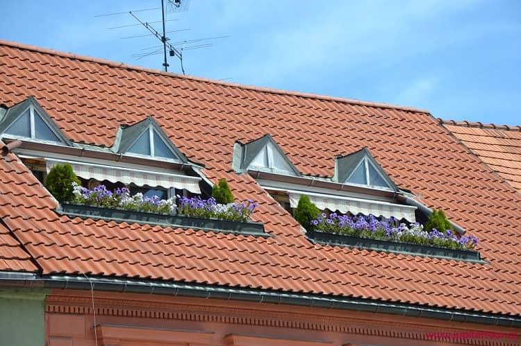 Интересная крыша, Подебрады