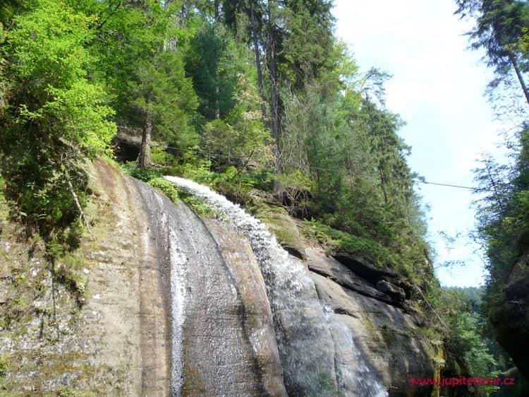 Водопад, Чешская Швейцария