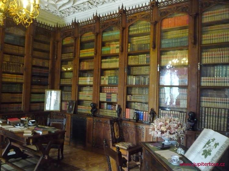 Библиотека, замок Сихров, замки Чехии