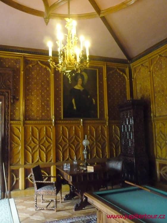 Мужской кабинет, замок Сихров, замки Чехии