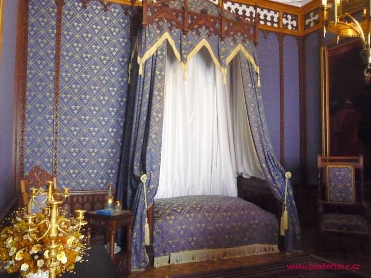 Спальня, замок Сихров, замки Чехии
